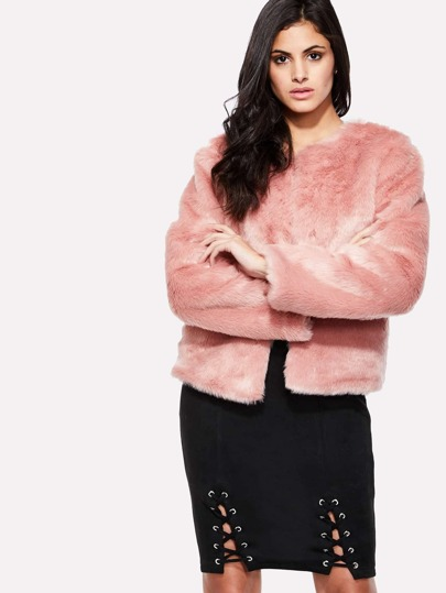 Faux Fur Crop Jacket