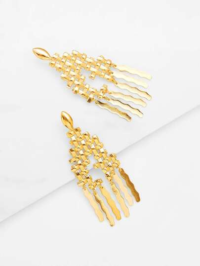 Metal Irregular Shaped Drop Earrings