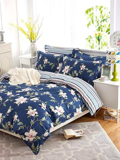 2.2m Flower Print Duvet Cover