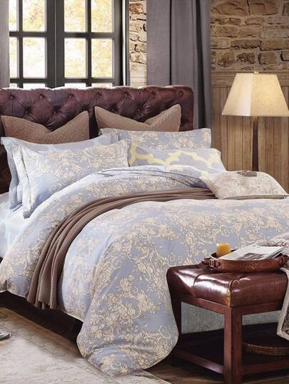 1.8m All Over Florals Print Duvet Cover
