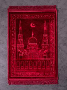 Fringe Trim Palace Pattern Rug