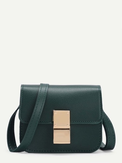 Mini Flap PU Crossbody Bag