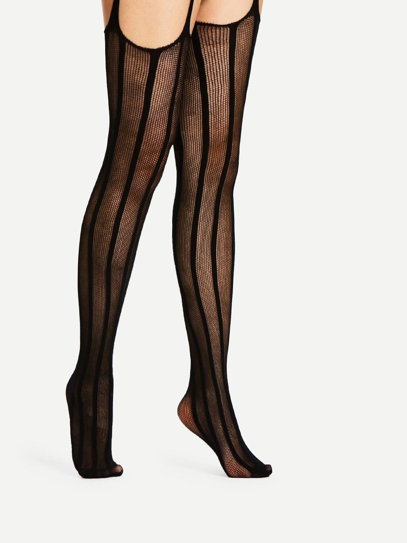 Mesh Design Garter Socks