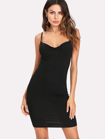 Cowl Neck Cami Dress