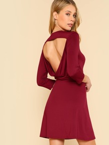 Draped Open Back Dress