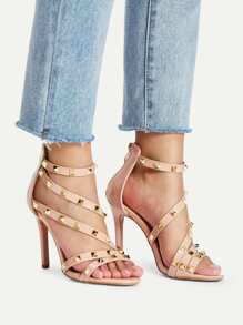 Studded Decor Strappy Pumps