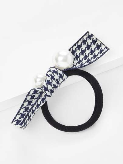 Faux Pearl Knot Hair Tie