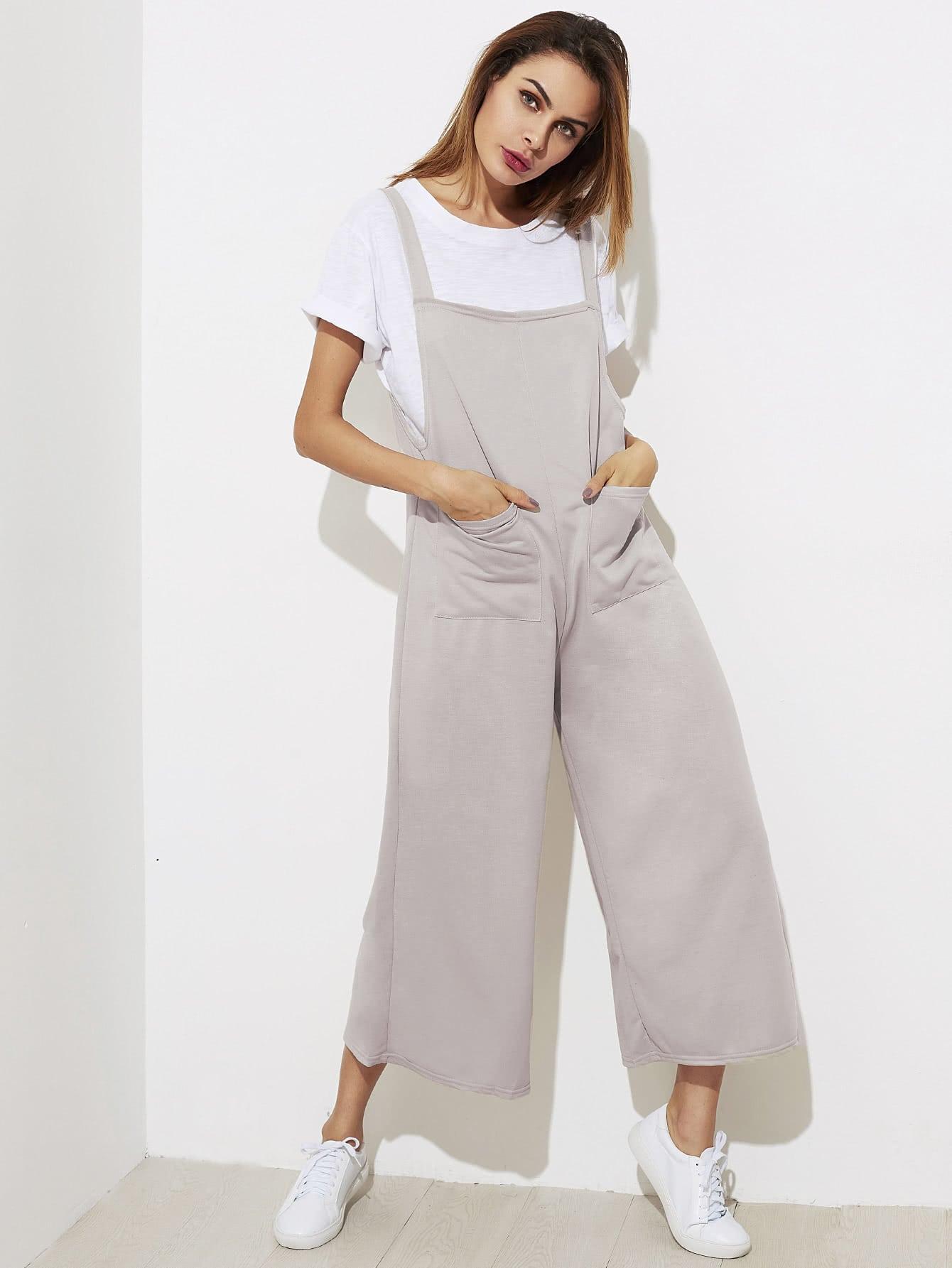 Symmetry Pocket Front Wide Leg Jumpsuit