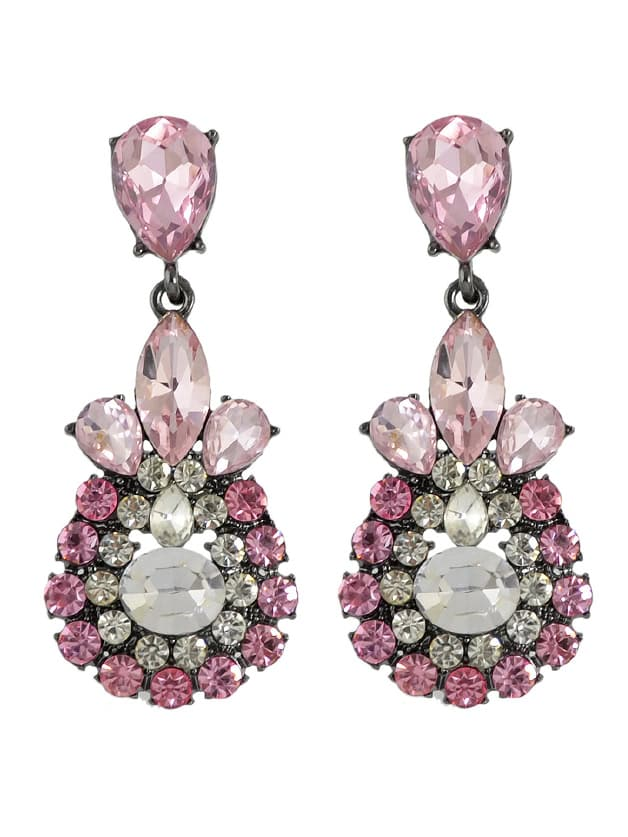 Pink Crystal Water Drop Flower Earrings кордщетка атака 21782
