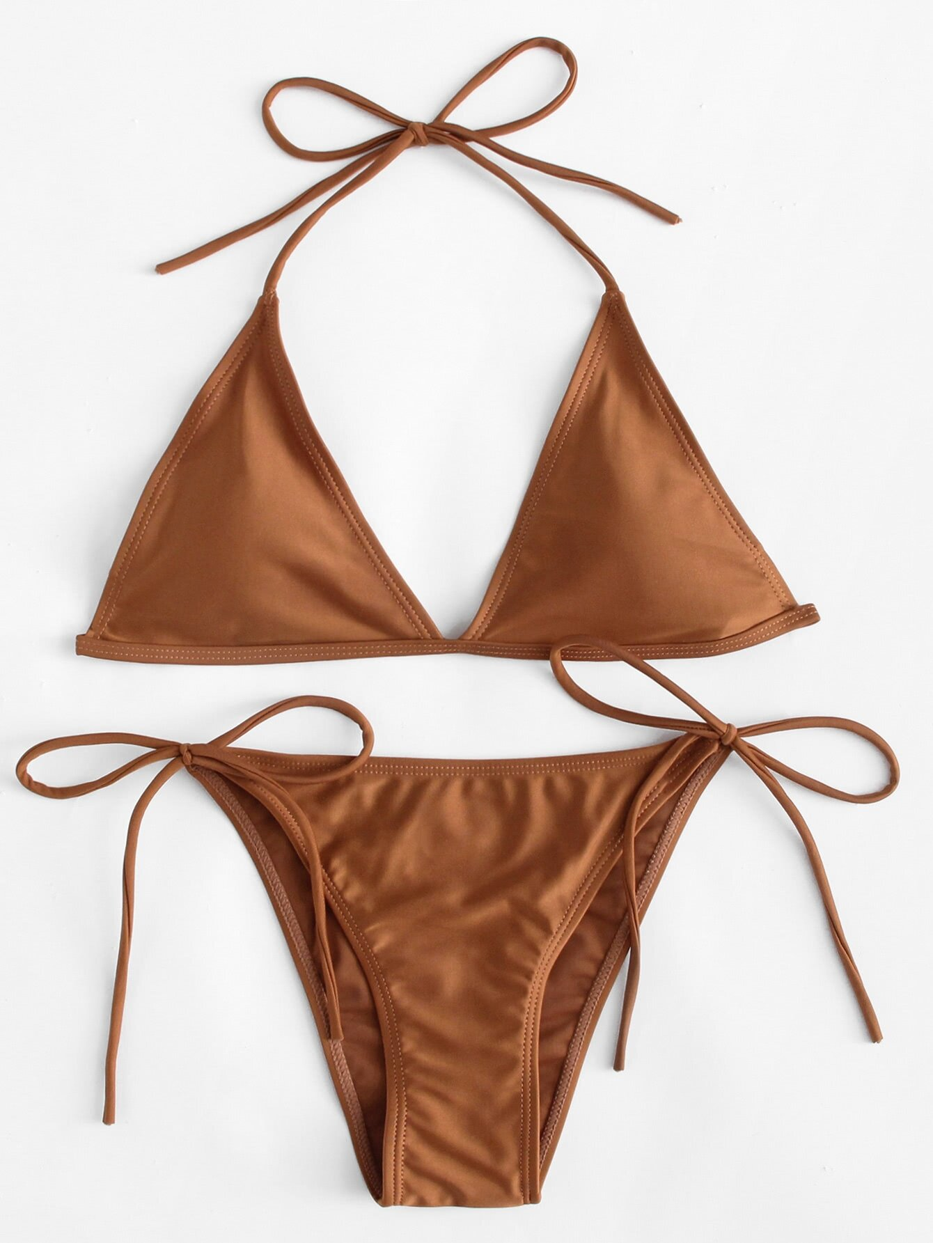 Self Tie Bikini Set