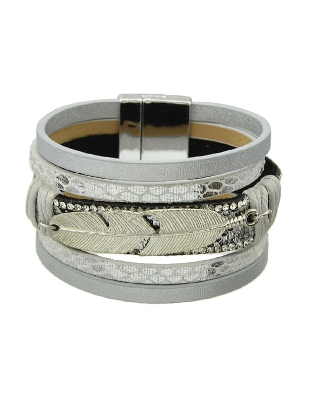 Silver Multilayer Blue Black Pu Leather Wrap Bracelets игрушка ecx torment silver blue ecx03033t1