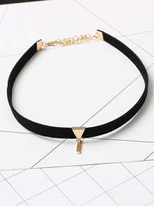 Contrast Bar Detail Choker
