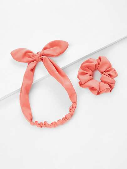 Striped Knot Headband & Hair Tie