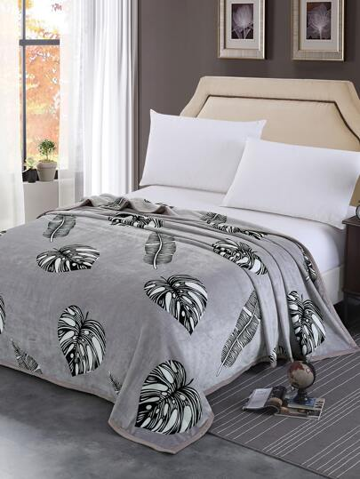 Jungle Print Plush Blanket