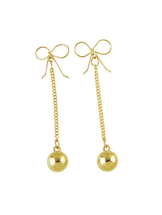 Bowknot Ball Drop Earrings