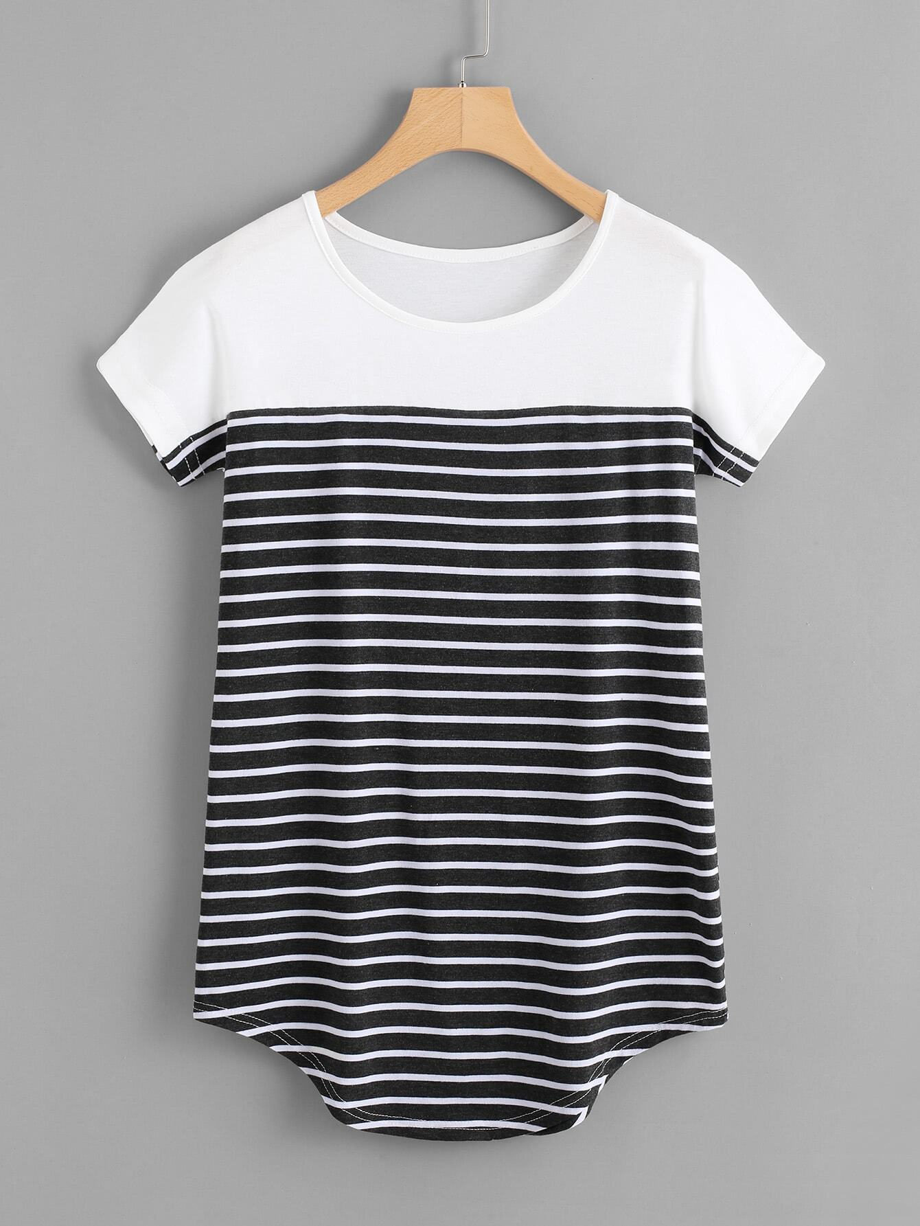 Striped Longline Tshirt striped longline tshirt