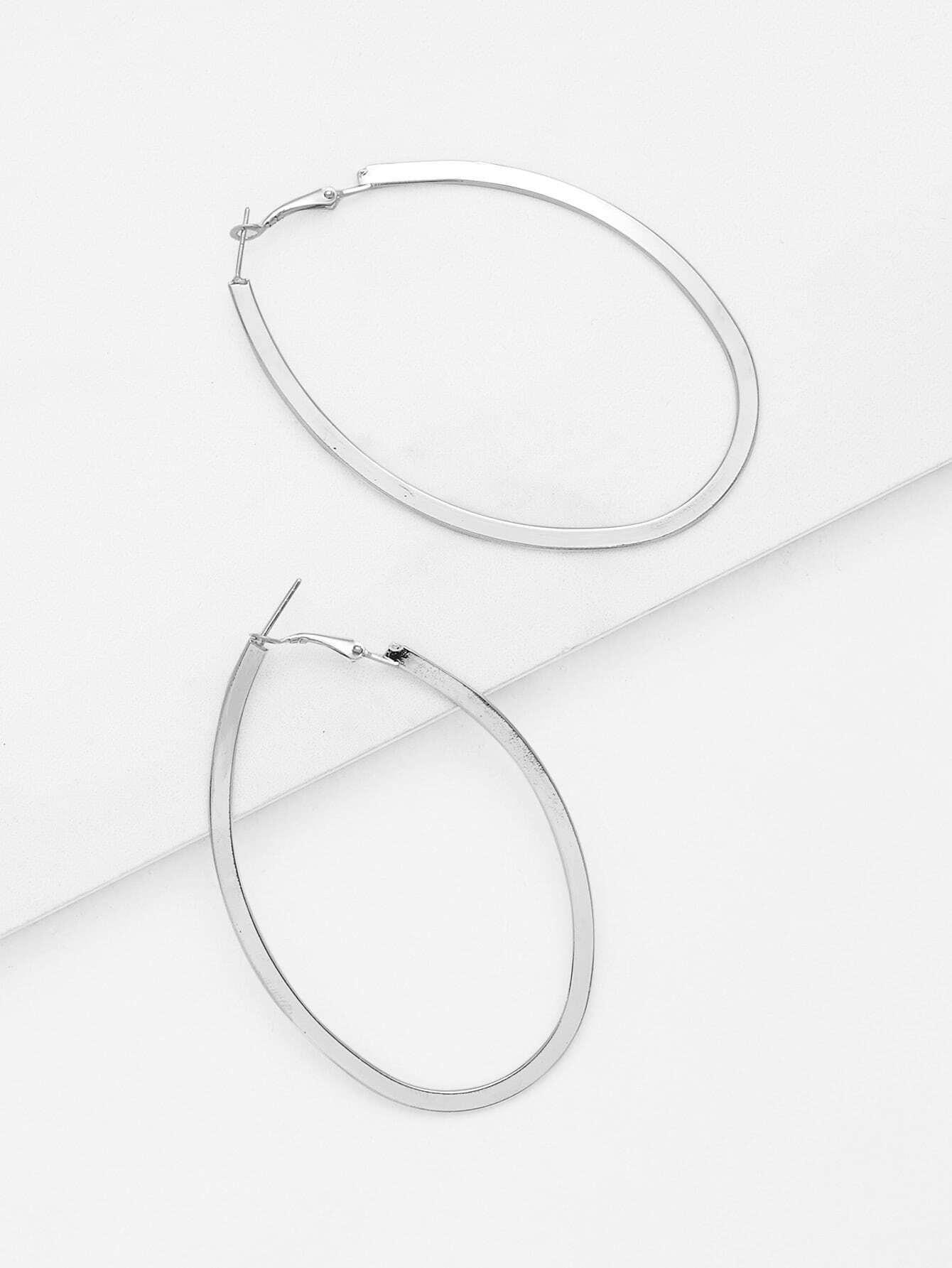 Irregular Hoop Drop Earrings vintage tassel drop hoop earrings