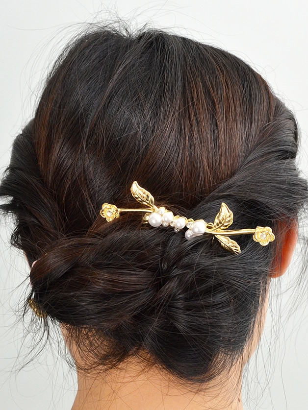 Three-Dimensional Flower Pearl Hair Comb Accessories high quality scalp massage comb 3 color mixed hair hair curls comb send elders the best gifts health care tools