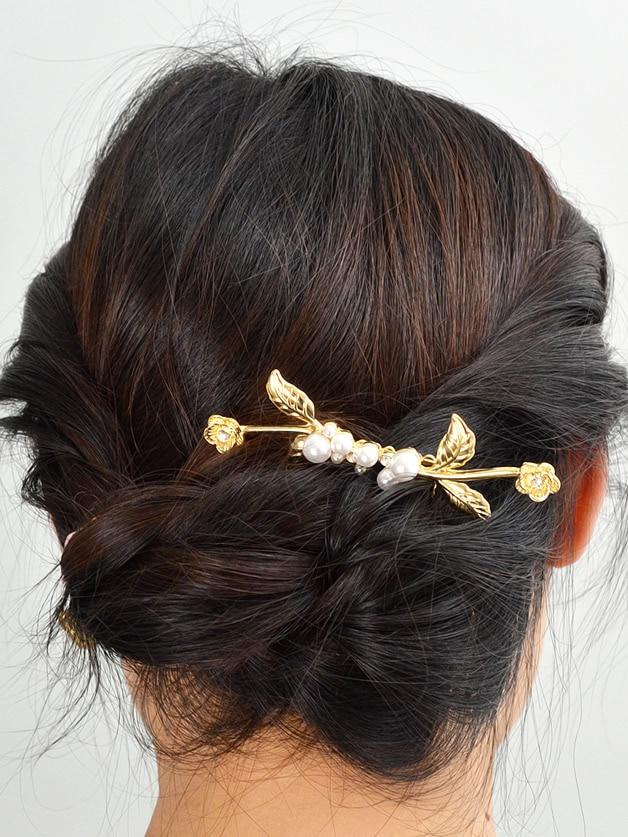 Three-Dimensional Flower Pearl Hair Comb Accessories costume hair accessory bride hair accessories big insert hair comb forehead small coronet agate tassel hair jewelry