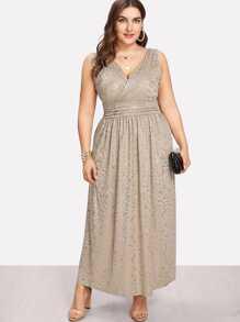 Fit & Flare Surplice Wrap Dress
