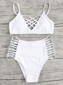 Caged Strappy Bikini Set