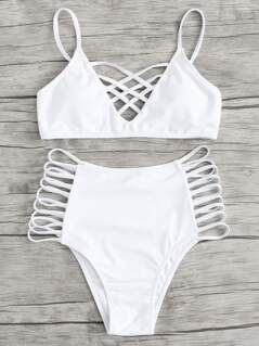 Caged Strappy Bikini Set