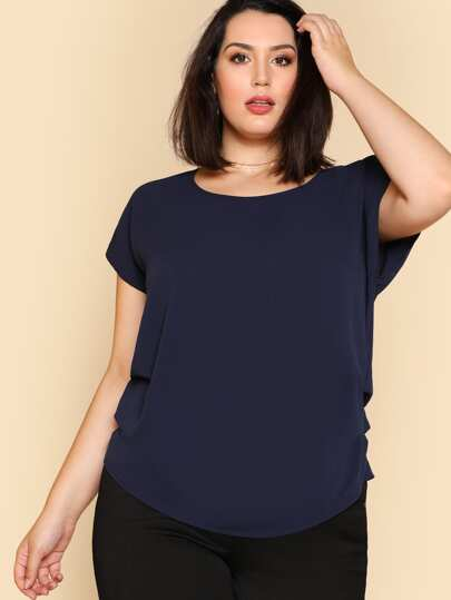 Ruched Side Solid Top