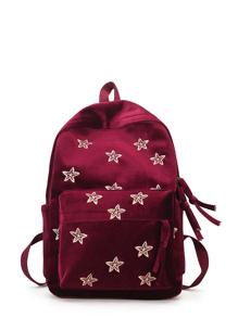 Star Detail Pocket Front Backpack