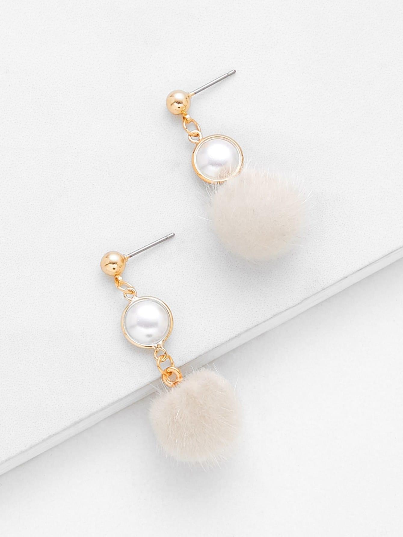 Pom Pom Drop Earring...