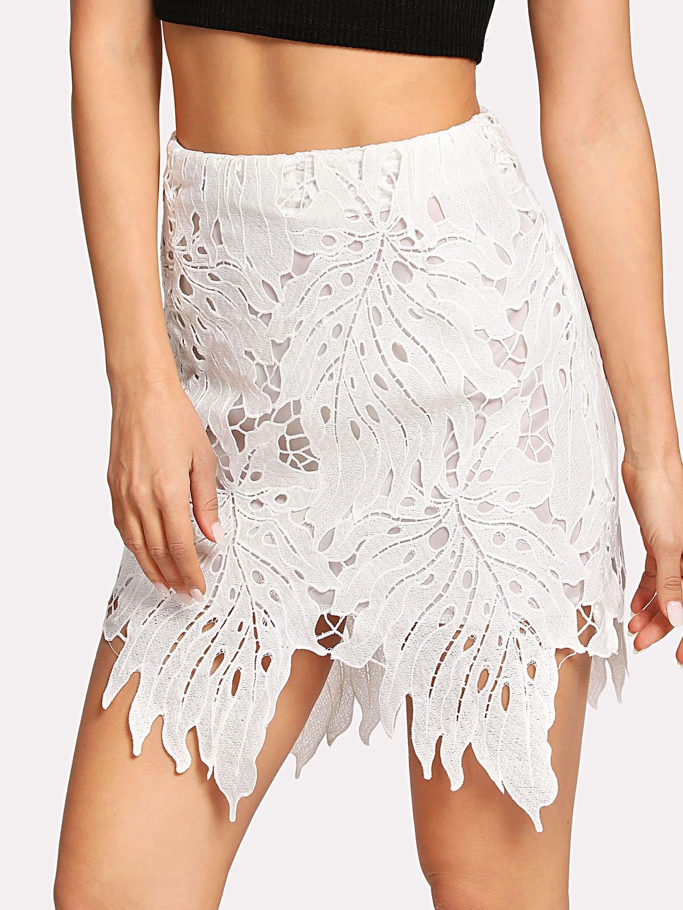 Cut Out Asymmetrical Hem Skirt цена 2017