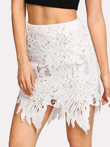 Cut Out Asymmetrical Hem Skirt