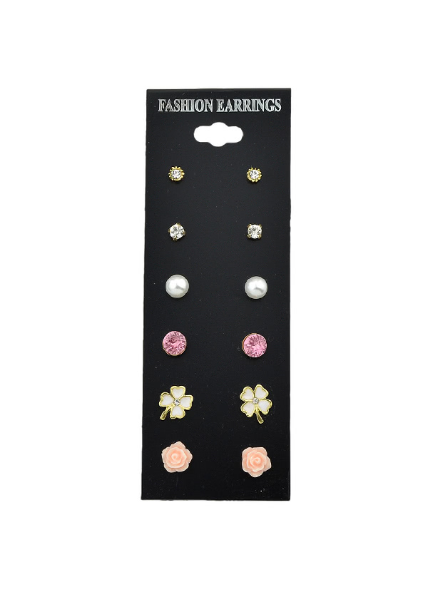 Cute Colorful Earrings Set цена