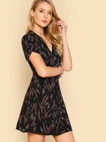 Floral Print Collared Button Down Dress BLACK