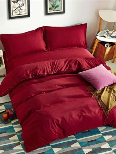 1.8m Solid Color Duvet Cover Set