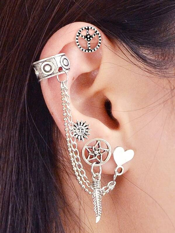 Ethnic Multi-Element Earrings Set Bohemian