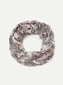 Snake Skin Print Infinity Scarf