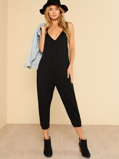 Harem Leg Jumpsuit BLACK
