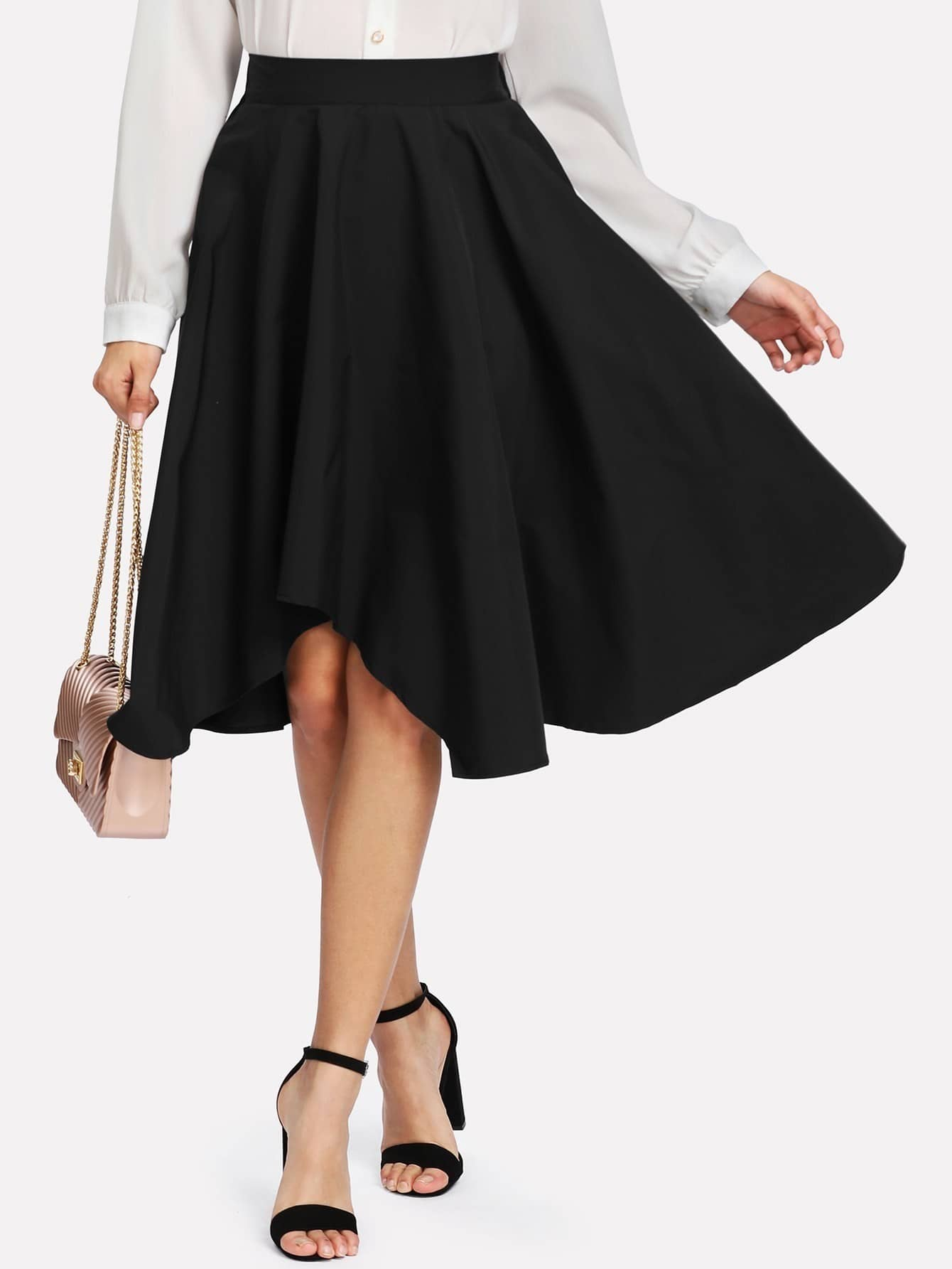 Image of Asymmetrical Swing Skirt