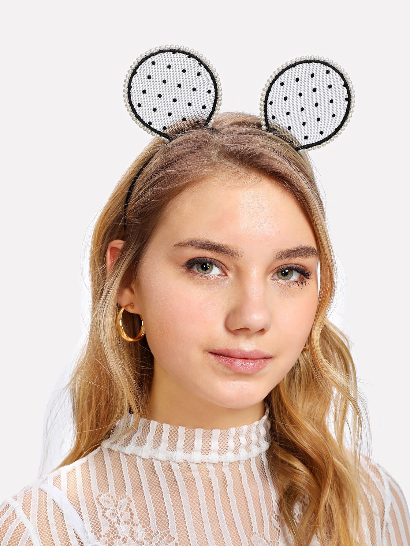 Faux Pearl Ear Headband