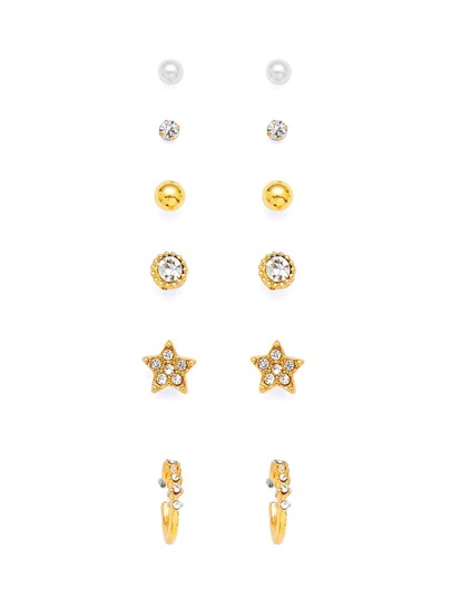 Round & Star Design Earring Set