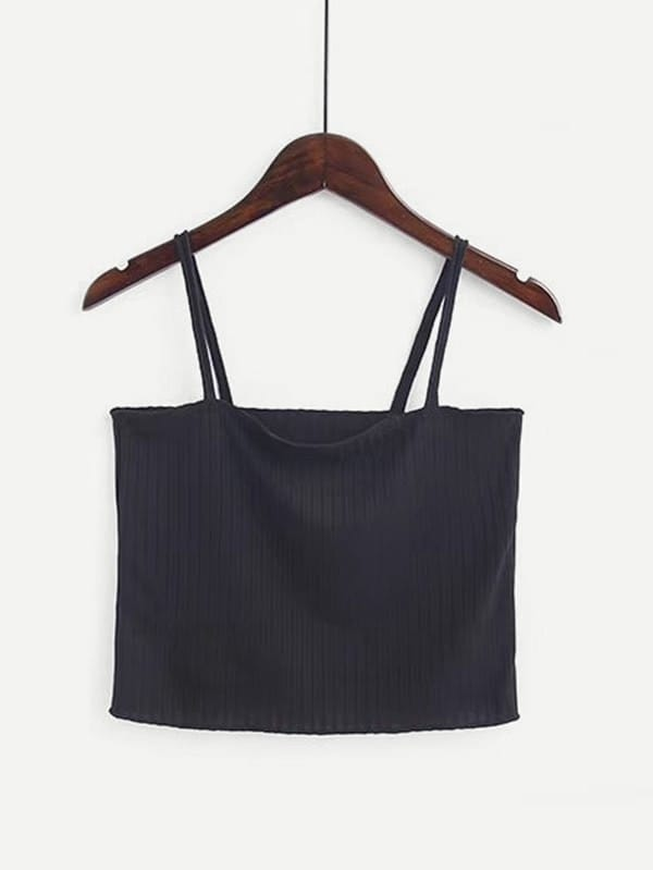 Rib Cami Crop Top vest180116203