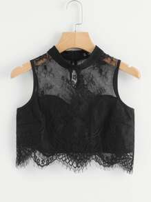 Lace Sweetheart Crop Top