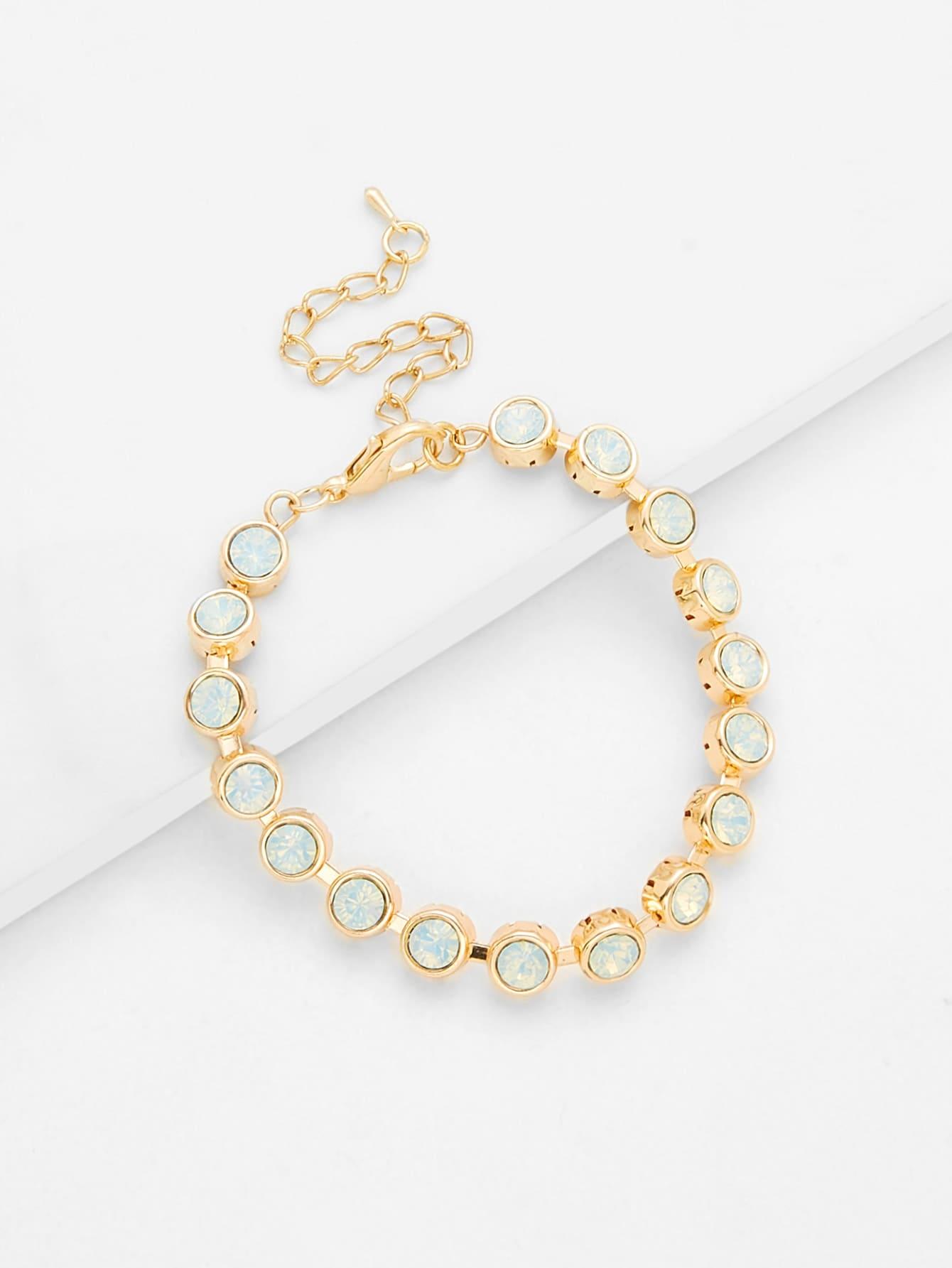 Crystal Beaded Bracelet dull polished mixed beaded bracelet