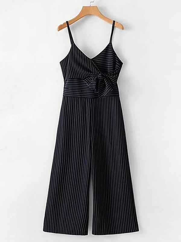 Bow Tie Striped Cami Jumpsuit холст 30x40 printio семейная лодка