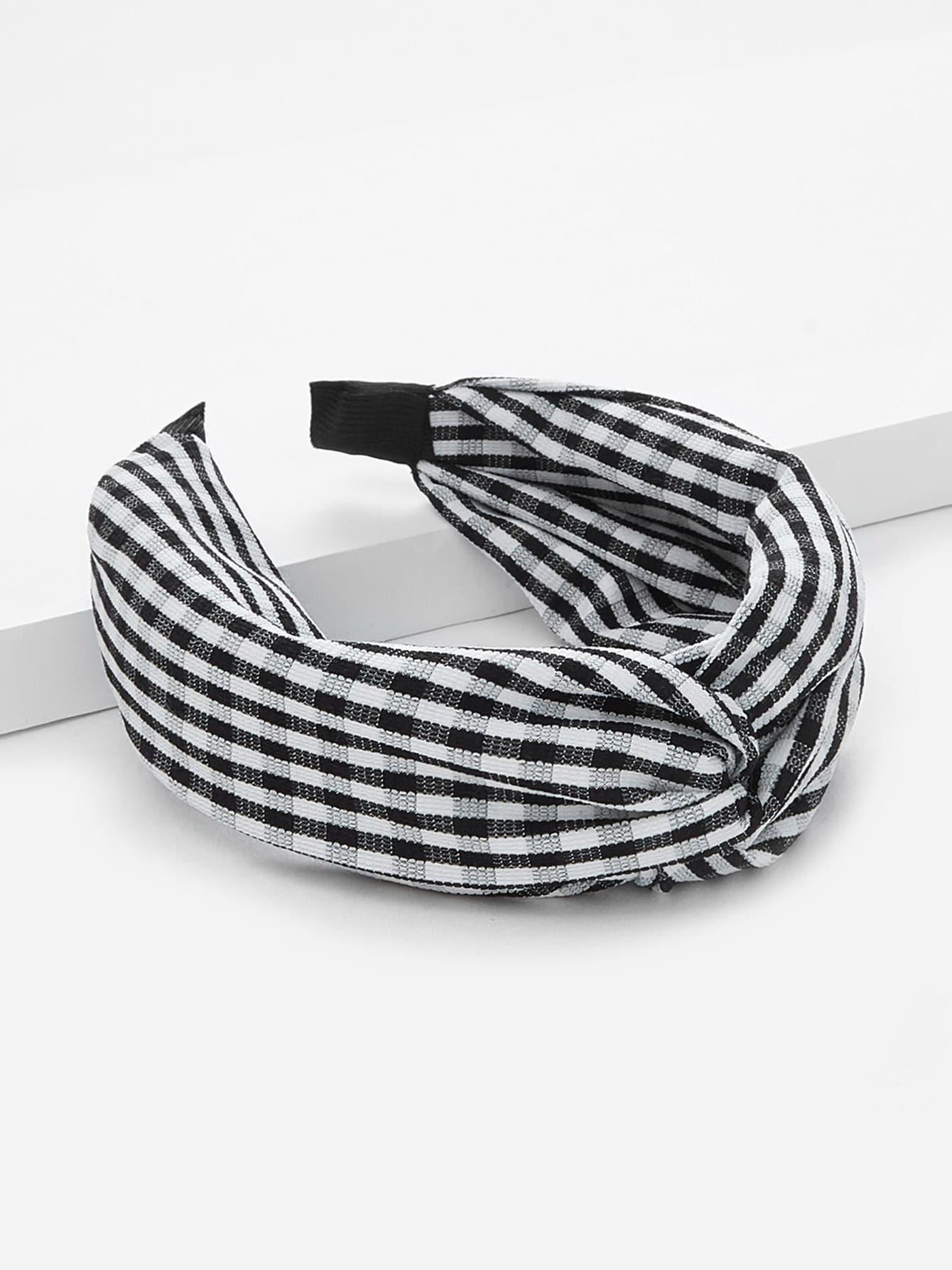 Plaid Twist Headband