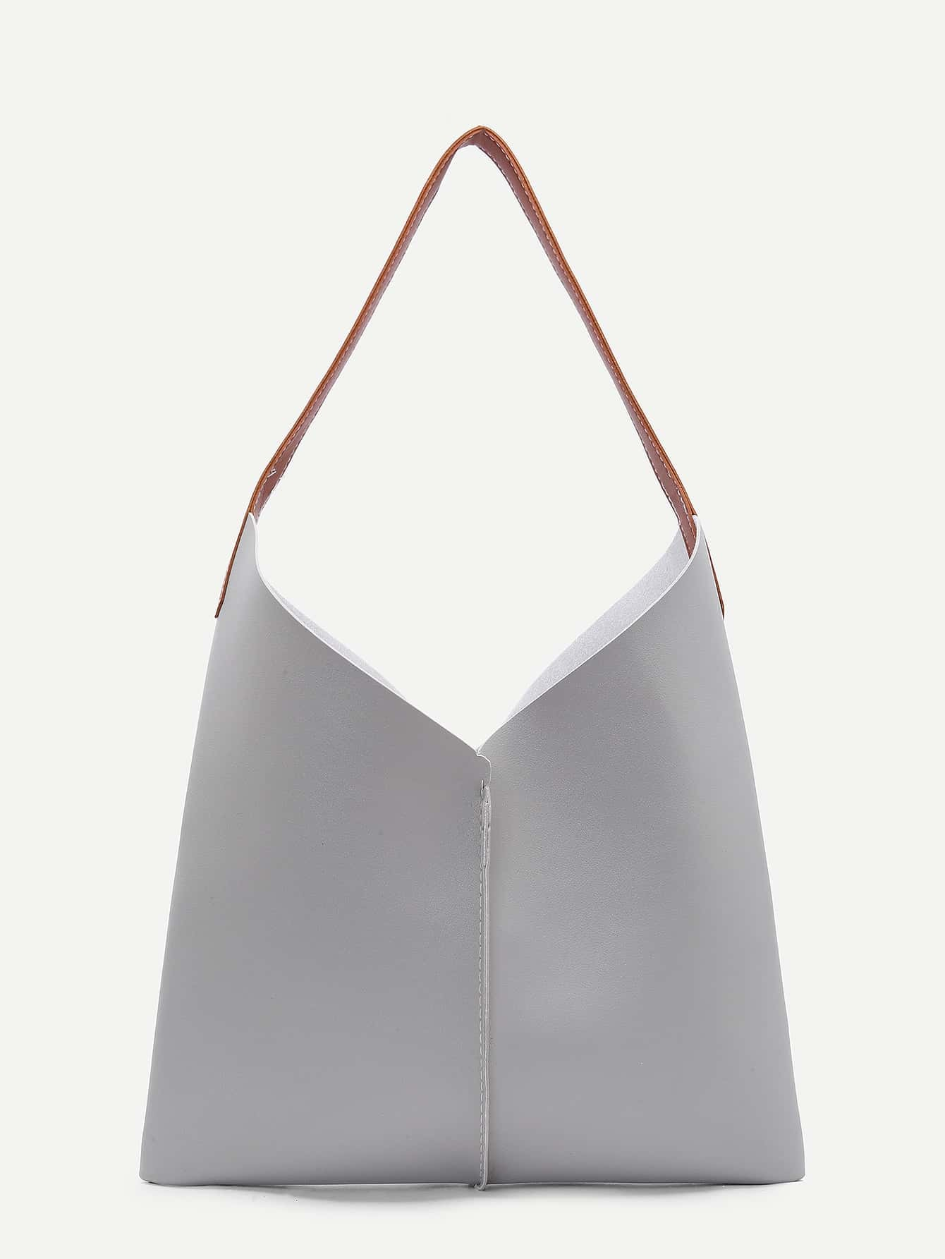 Seam Detail PU Bag Set 3pcs