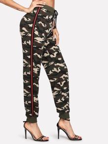 Striped Side Camo Pants