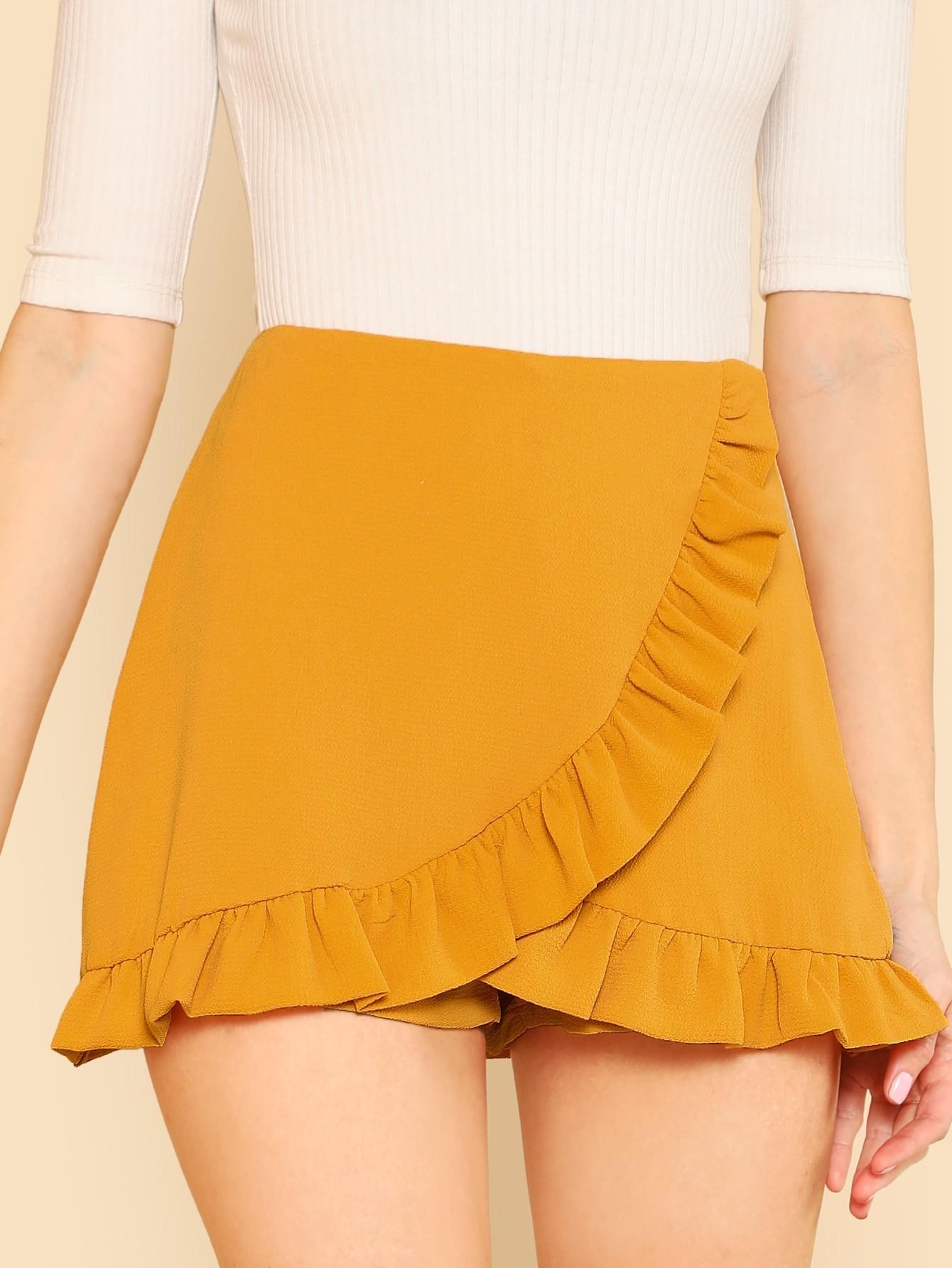 Ассиметричная юбка шорты, Brittany Lucas, SheIn  - купить со скидкой