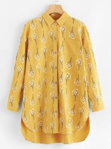 High Low Hem Shirt Dress