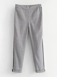 Striped Tape Glen Plaid Pants
